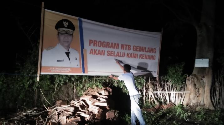 Dukung Gubernur NTB, Spanduk dan Baliho Bertebaran di Bima