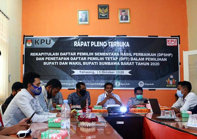 Rapat Pleno KPU KSB