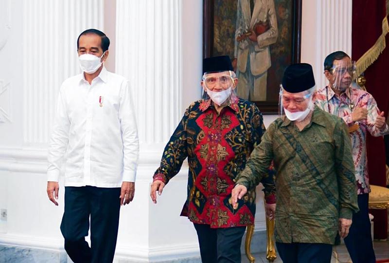 Amien Rais Temui Presiden Jokowi di Istana Merdeka