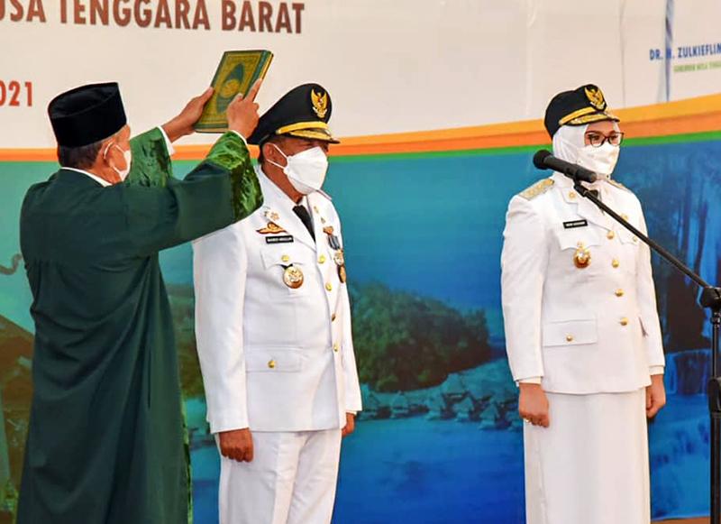 Mahmud Abdullah Resmi Jadi Bupati Sumbawa