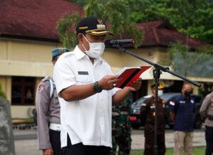 Bupati Sumbawa Barat Larang Takbir Keliling Hari Raya Idul Fitri - Apel Gelar Pasukan Operasi Ketupat Rinjani 2021 - Bupati Sumbawa Barat