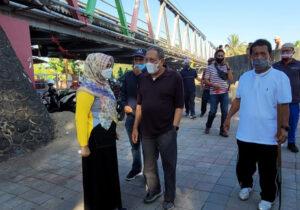 Mitigasi Bencana Banjir, Bupati dan Wakil Bupati Sumbawa Turun Ke Sungai Brang Bara - Bupati dan Wakil Bupati Sumbawa Cek Sungai Brang Bara