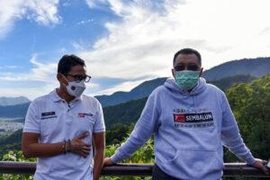 Sandiaga Uno di Lombok