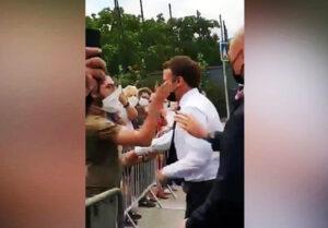 Presiden Macron Ditampar