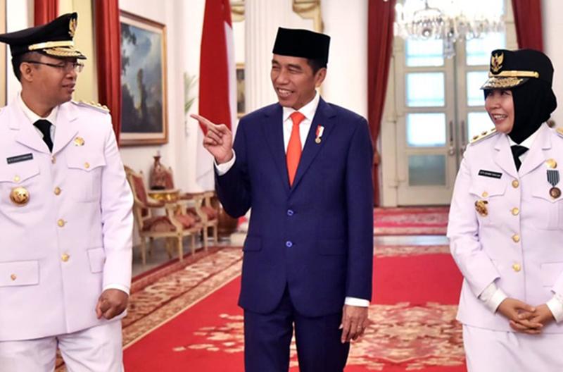 Gubernur dan Wakil Gubernur NTB Bersama Presiden Jokowi di Istana Negara