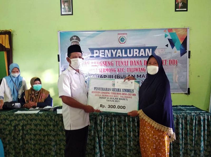 Penyaluran BLT Dana Desa Desa Sermong Taliwang Sumbawa Barat