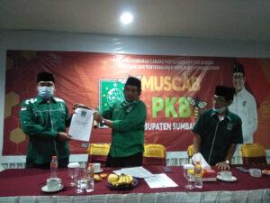 Kembali Terpilih Pimpin PKB KSB, Sudarli Siap Rekrut Kader Muda Potensial - Muscab PKB KSB 2021